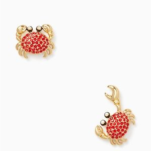 KATE SPADE SHORE THING CRAB STUD EARRINGS